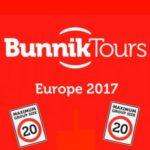 BUNNIK TOURS EUROPE 2017